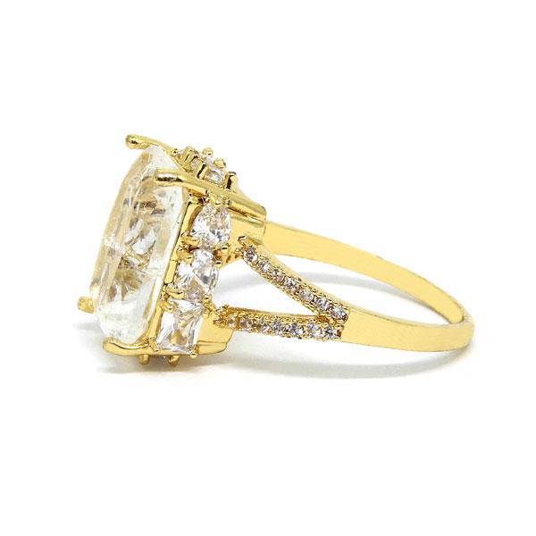 Anel Dourado com Pedra Fusion - Aro 22