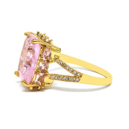 Anel com Pedra Fusion Rosa - Aro 26