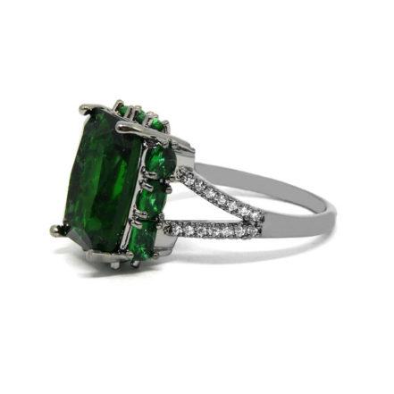Anel com Pedra Fusion Esmeralda - Aro 23