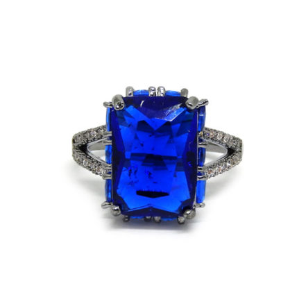 Anel com Pedra Fusion Royal - Aro 16