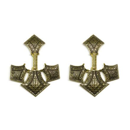 Brinco de Metal  - Emblema - Ouro Velho