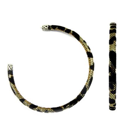 Brinco Argola Animal Print - Grande - Cobra
