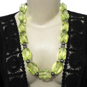 Maxi Colar Verde Cristal