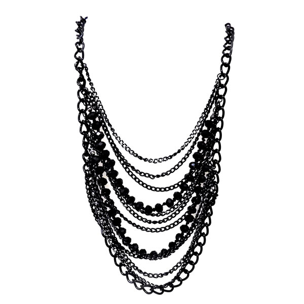 Lindo maxi colar turco prata