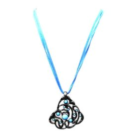 Gargantilha Azul com Flor