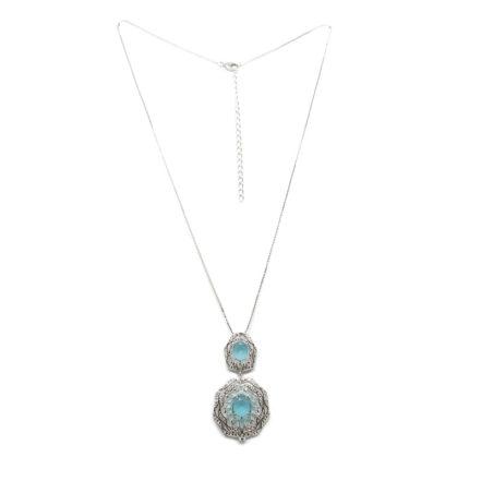 Gargantilha com Zirconias Cristal e Tiffany