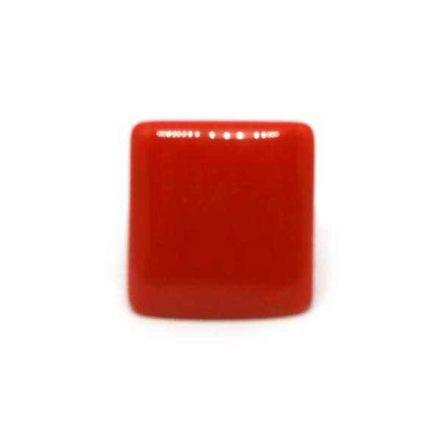 Anel Grande de Resina Quadrado - Vermelho