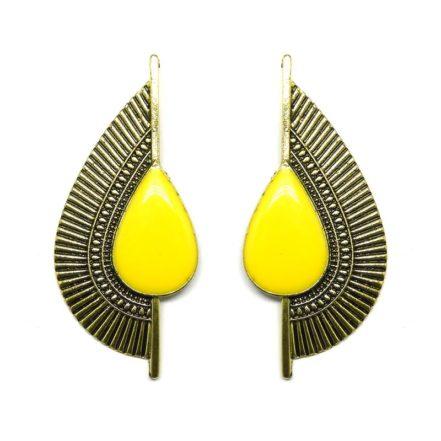 Brinco Egípcio - Dourado e Amarelo