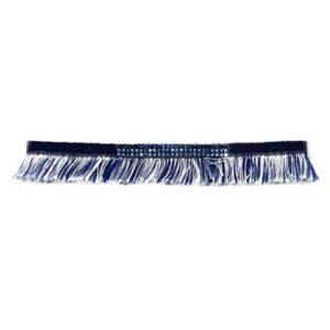 Choker Jeans com Strass Azul