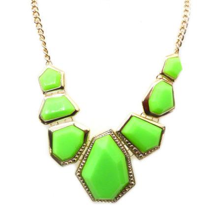Maxi Colar Neon -  Geométrico - Verde