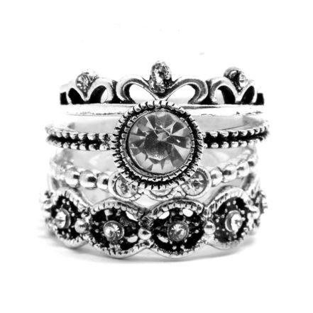 Mix de Anéis com Coroa