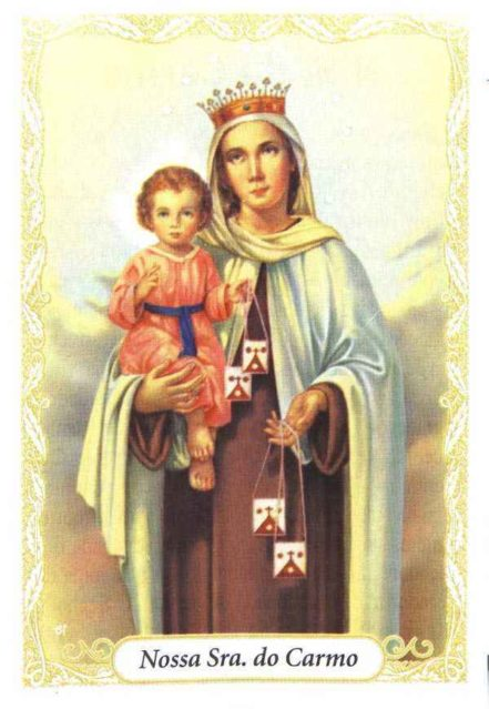 Escapulário – Nossa Senhora do Carmo - Inox e Dourado