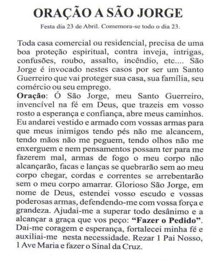 Escapulário São Jorge Inox