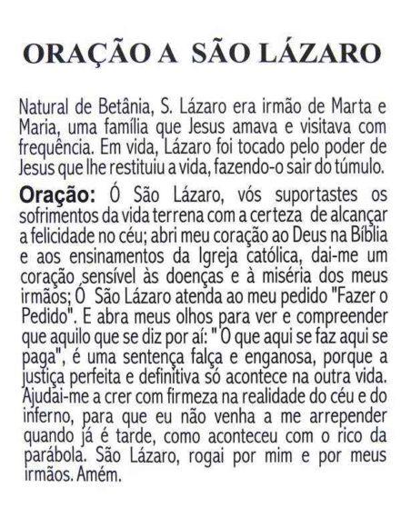 Escapulário São Lázaro
