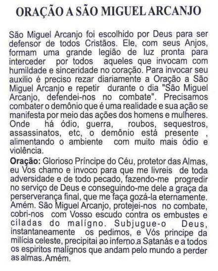 Escapulário São Miguel Arcanjo