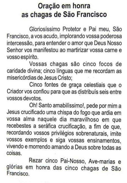 Escapulário São Francisco Chagas