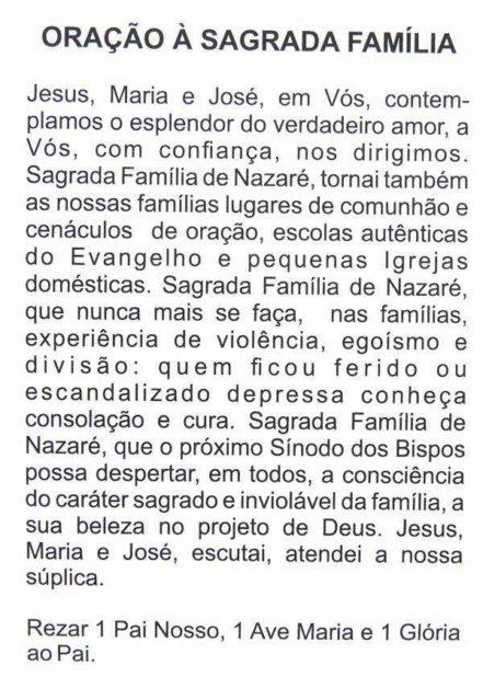 Escapulário Sagrada Família