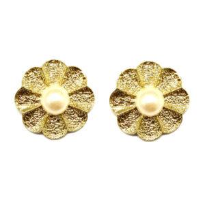 Brinco Pequeno Flor Dourada