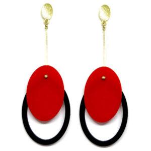 Brinco De Acrílico Oval – Cores Variadas – Unidade