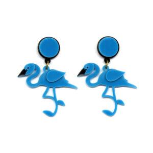 Brinco Flamingo Azul
