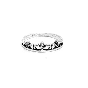 Anel Coroa de Prata Turca