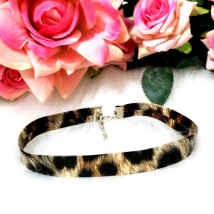 Choker Animal Print Onça