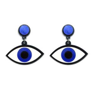 Brinco de Acrílico Olho Grego Pequeno