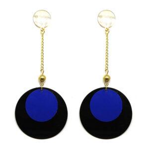 Brinco Leve Preto e Azul