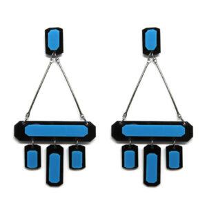 Brinco Azul e Preto