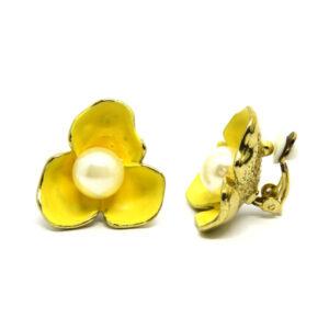 Brinco de Pressão Flor Amarela