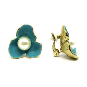 Brinco de Pressão Flor Azul
