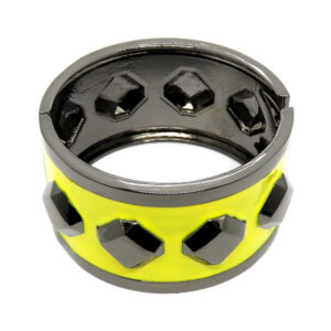 Bracelete Grafite e Amarelo