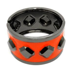 Bracelete Grafite e Vermelho