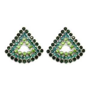 Brinco Triangular Verde