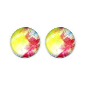 Brinco Botão Tie Dye MD-03