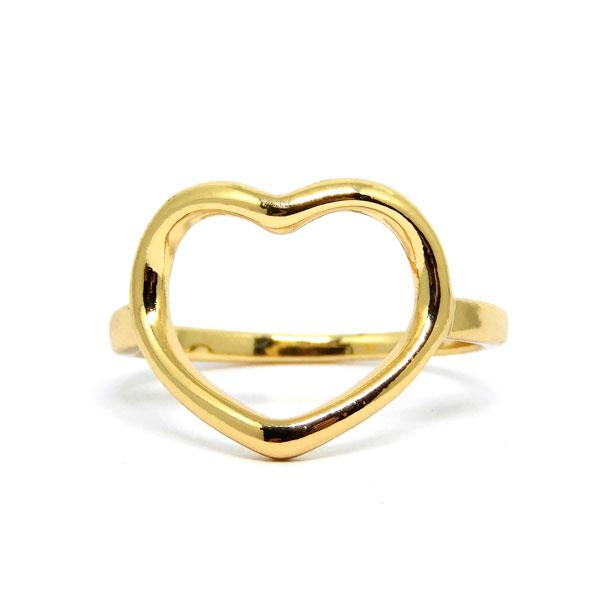 Anel Coração Dourado