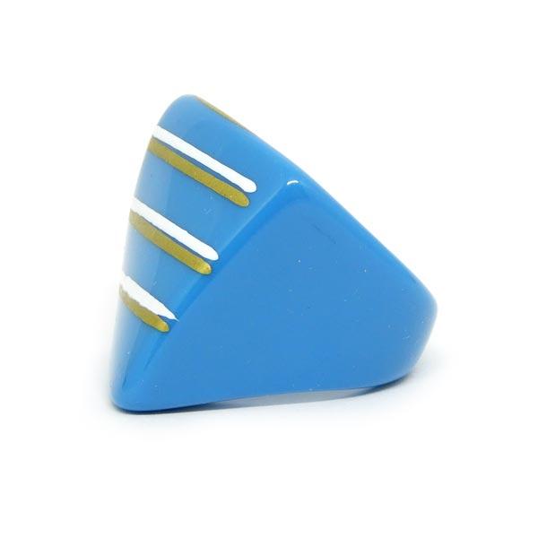 Anel de Resina Azulado