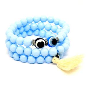 Kit de Pulseiras Azul Com Olho Grego de Cor Variada