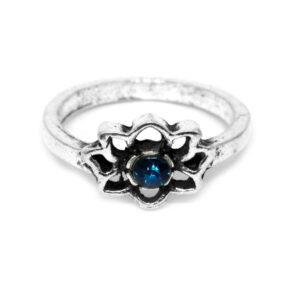 Anel Florzinha de Lotus de Prata Turca – ARO 9