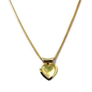 Colar Dourado com Coração